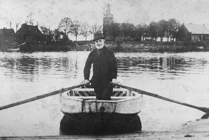 Fähre zur Moorlosen Kirche um 1890